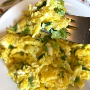 Scrambled Eggs With Green Onions