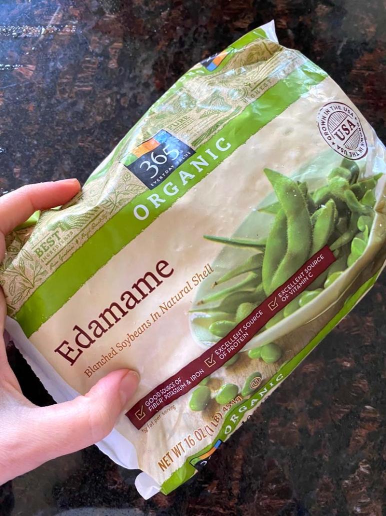 organic edamame beans package