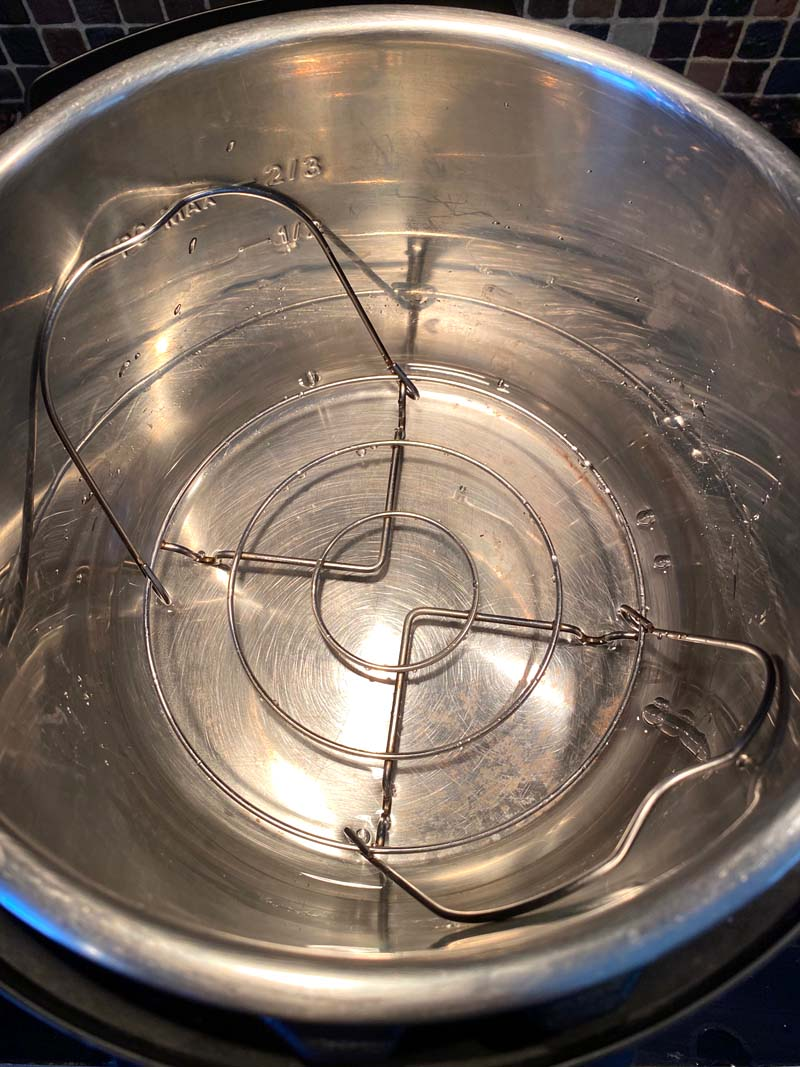 The trivet in the instant pot