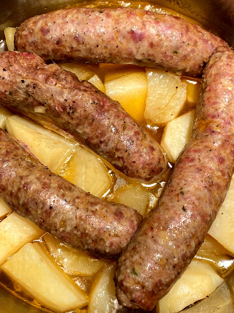 italian sausage and potatoes in the instapot