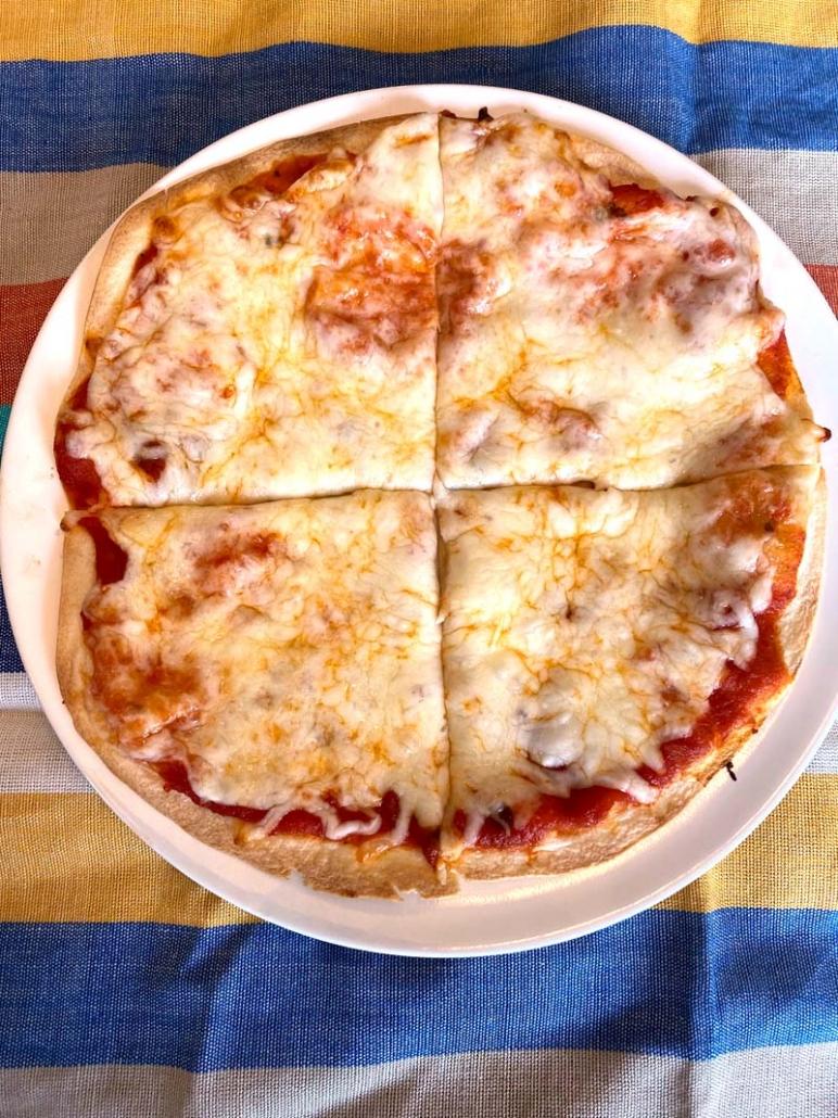 crispy Mexican pizza no beans