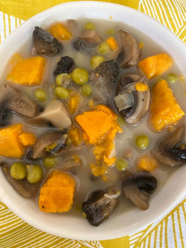 Instant Pot Mushroom Sweet Potato Soup