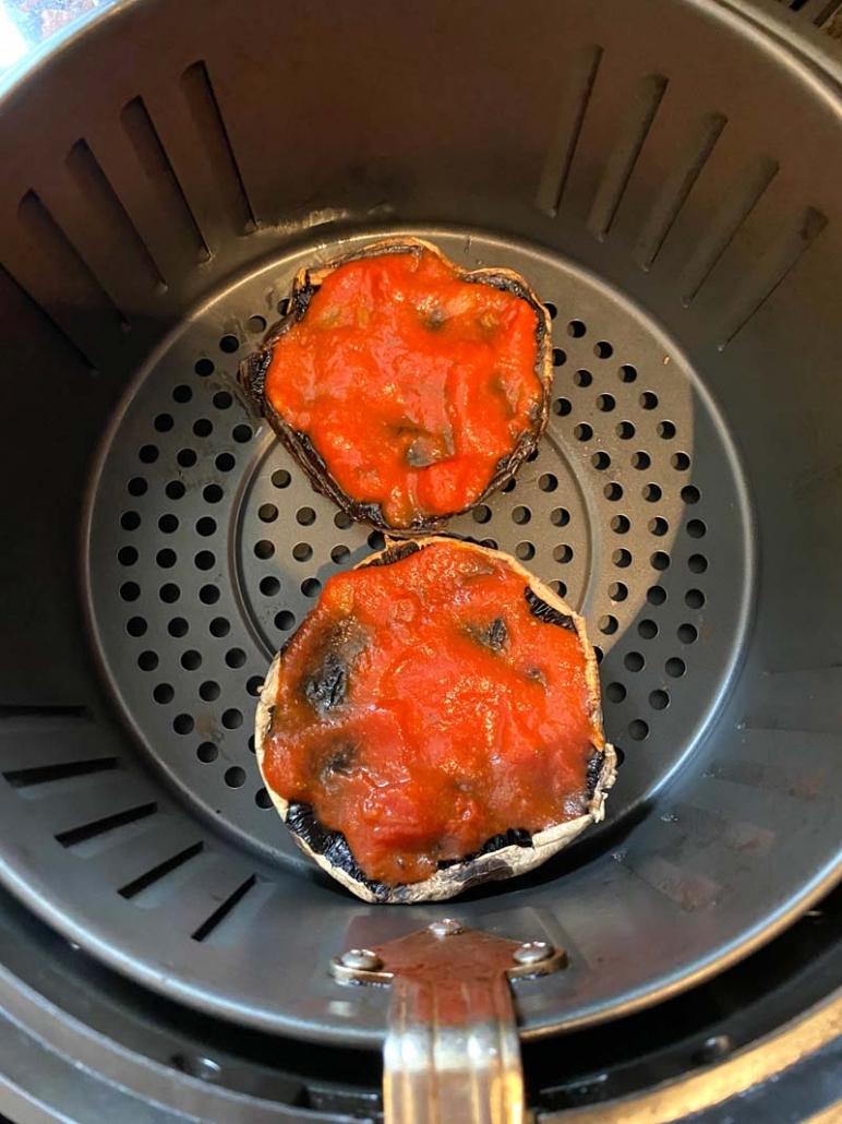 portobello with tomato sauce