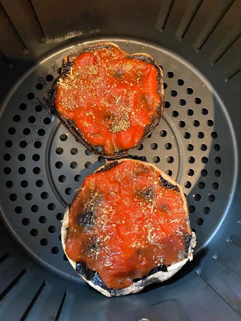 portobello with salt and pepper