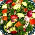 Radish Zucchini Salad