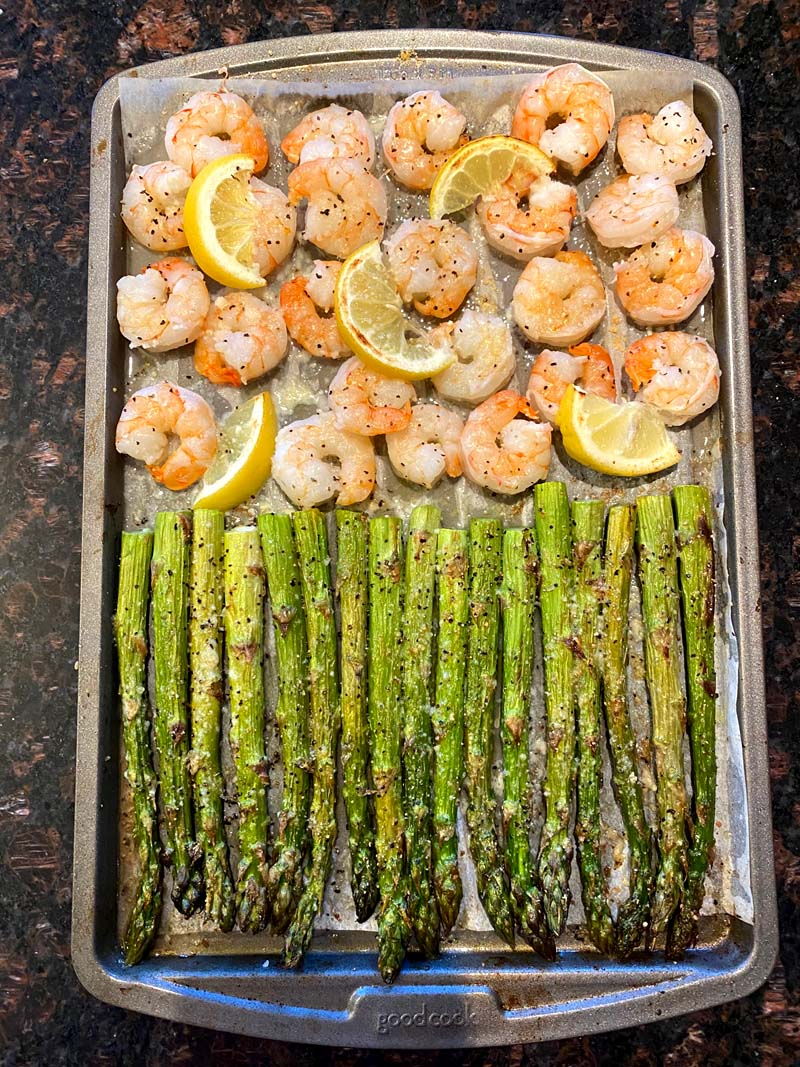 Sheet Pan Shrimp And Asparagus