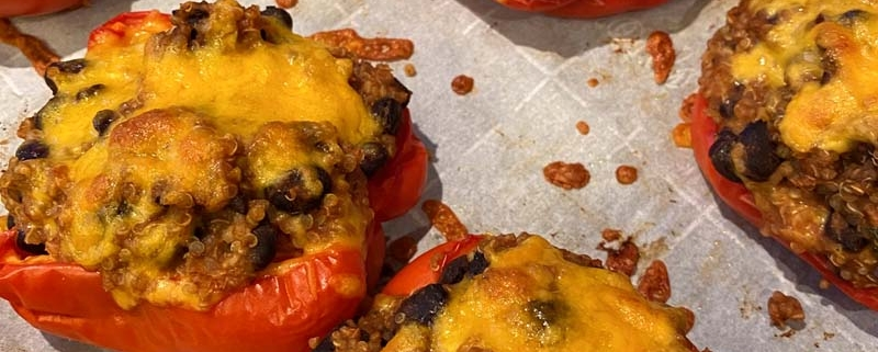 Vegetarian Stuffed Peppers With Quinoa And Black Beans