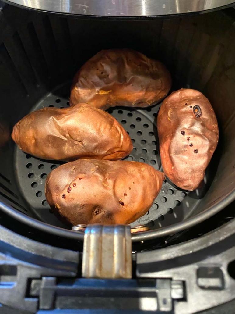 sweet potato in an air fryer