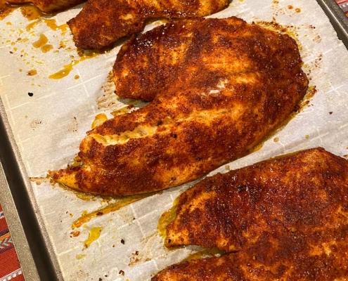 baked blackened tilapia