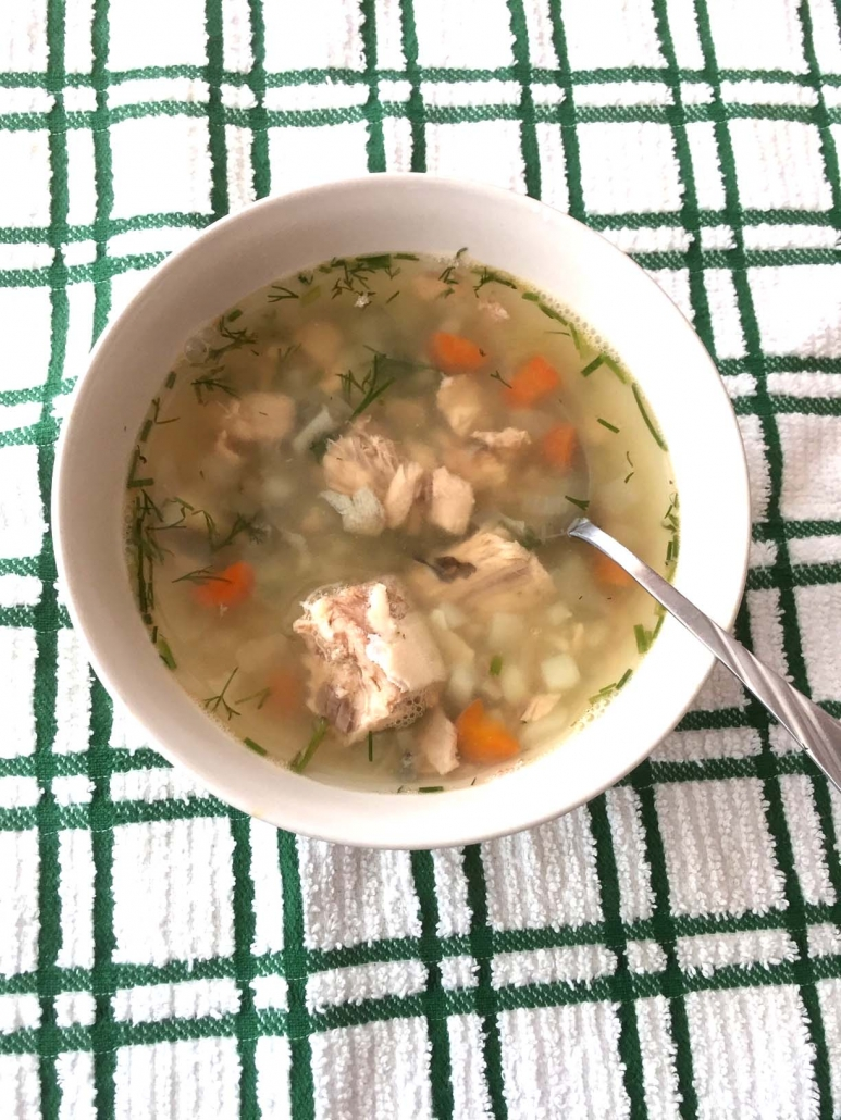 Canned Salmon Soup