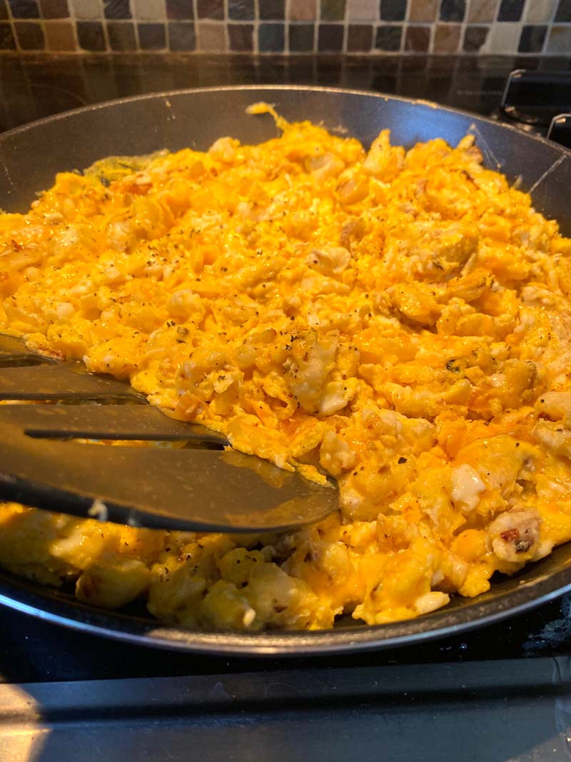 Make ahead scrambled eggs