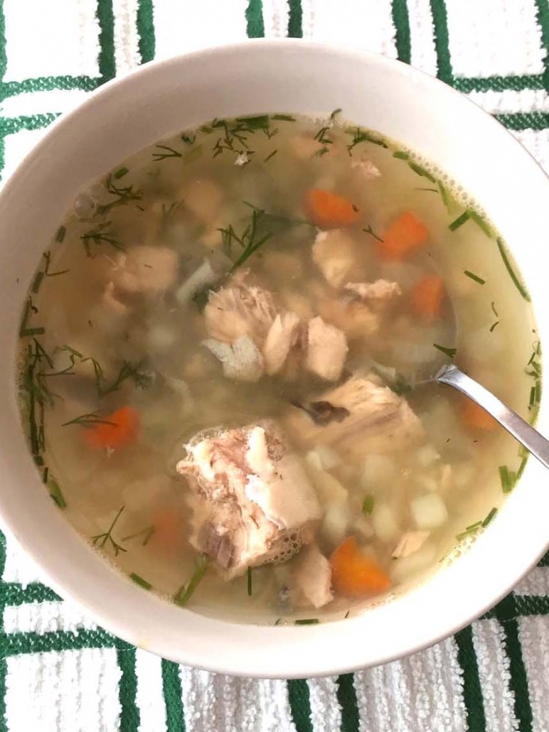 easy canned salmon soup