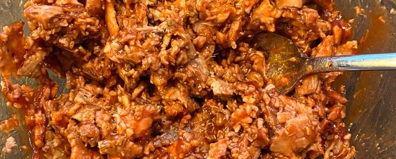 Shredded BBQ Beef From Leftover Beef