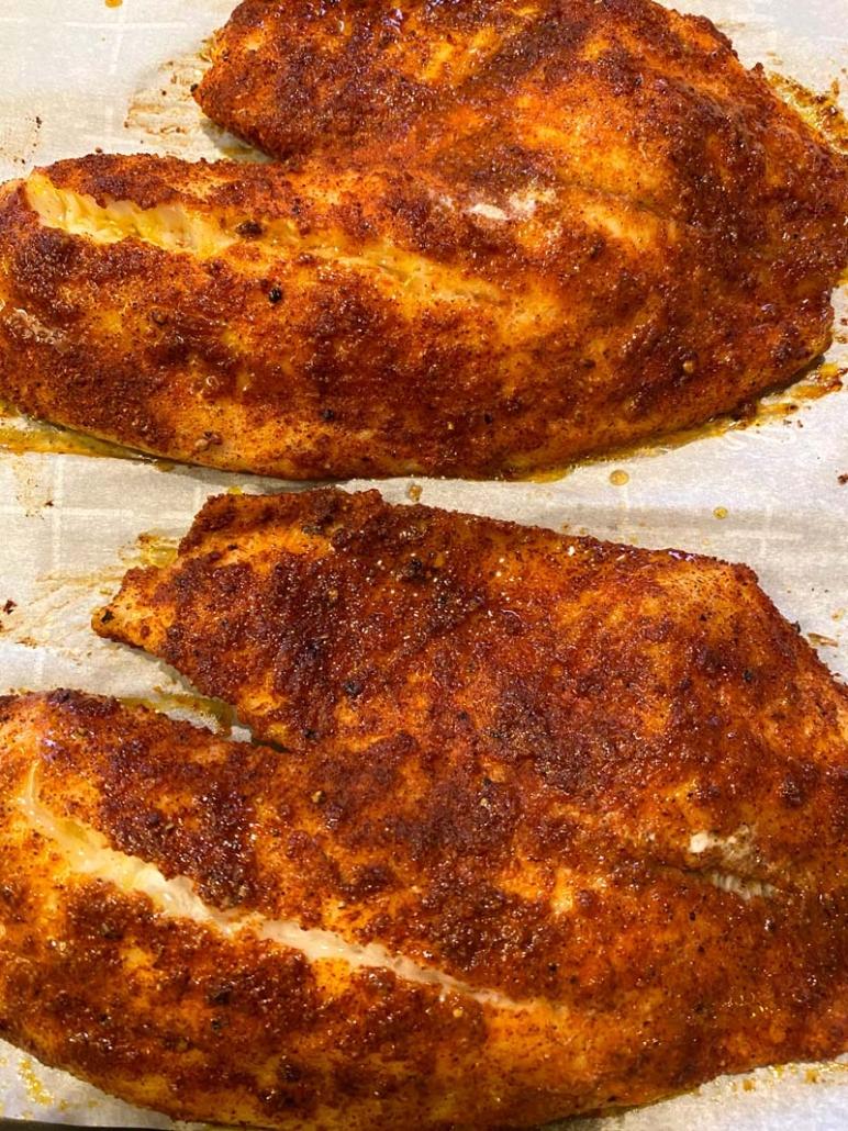 spicy blackened tilapia