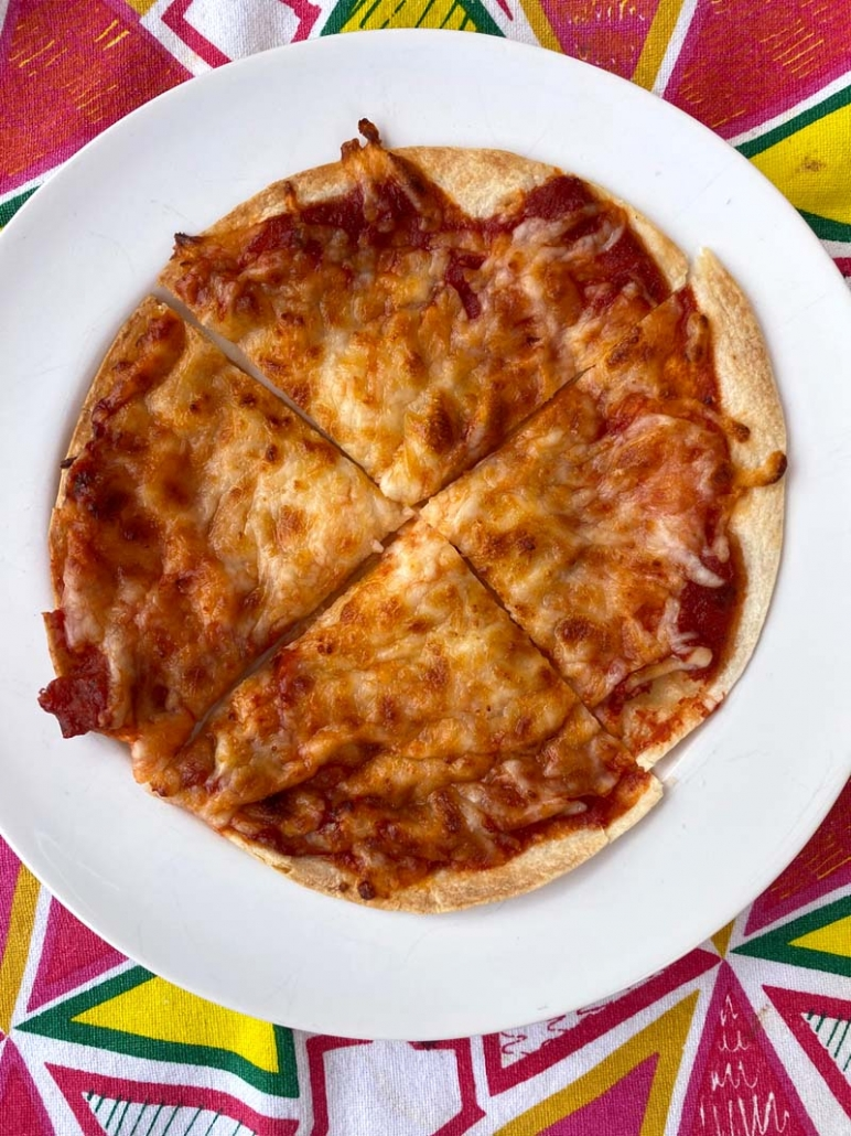 Air Fryer Tortilla Pizza