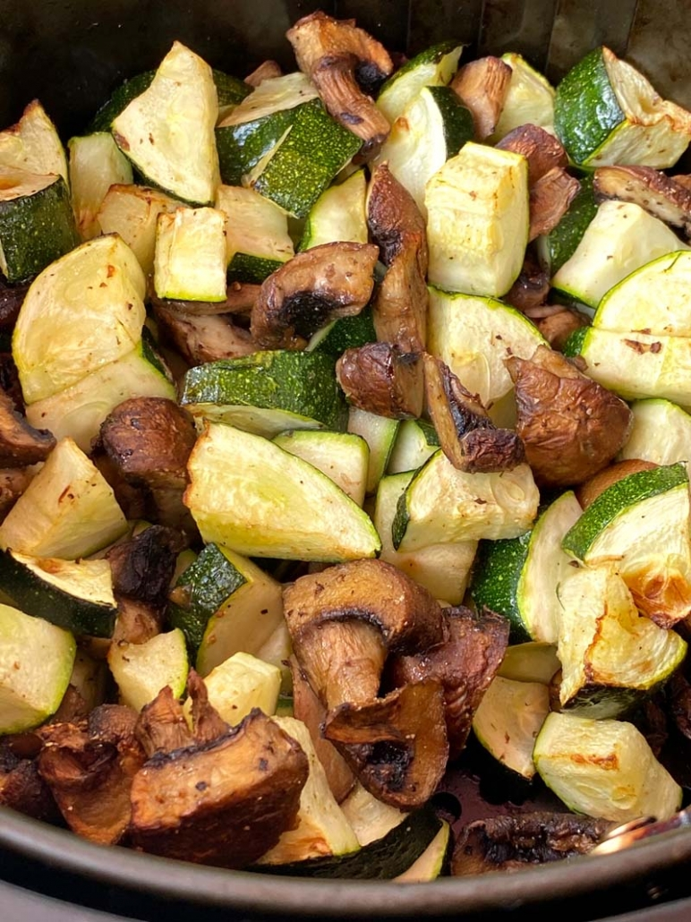 zucchini and mushrooms