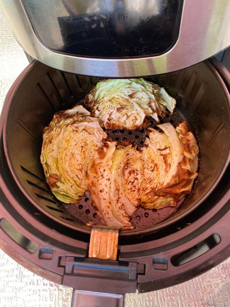 roasting cabbage wedges in the air fryer