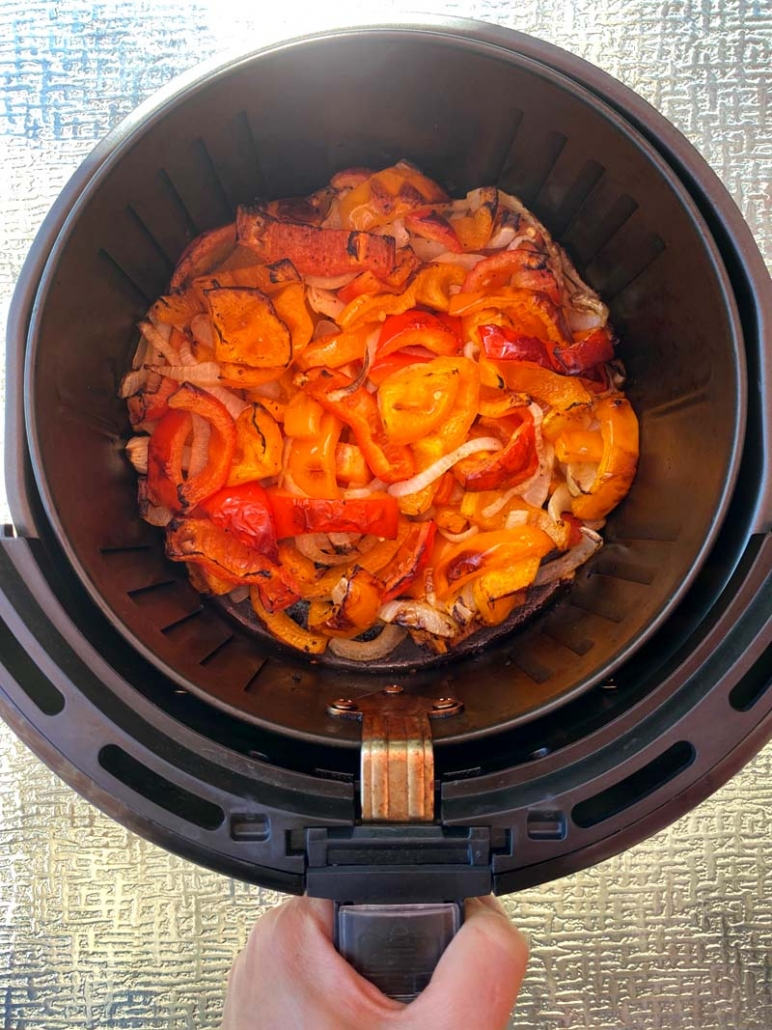 air fryer peppers and onions