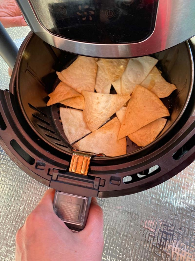 tortilla chips in the air fryer
