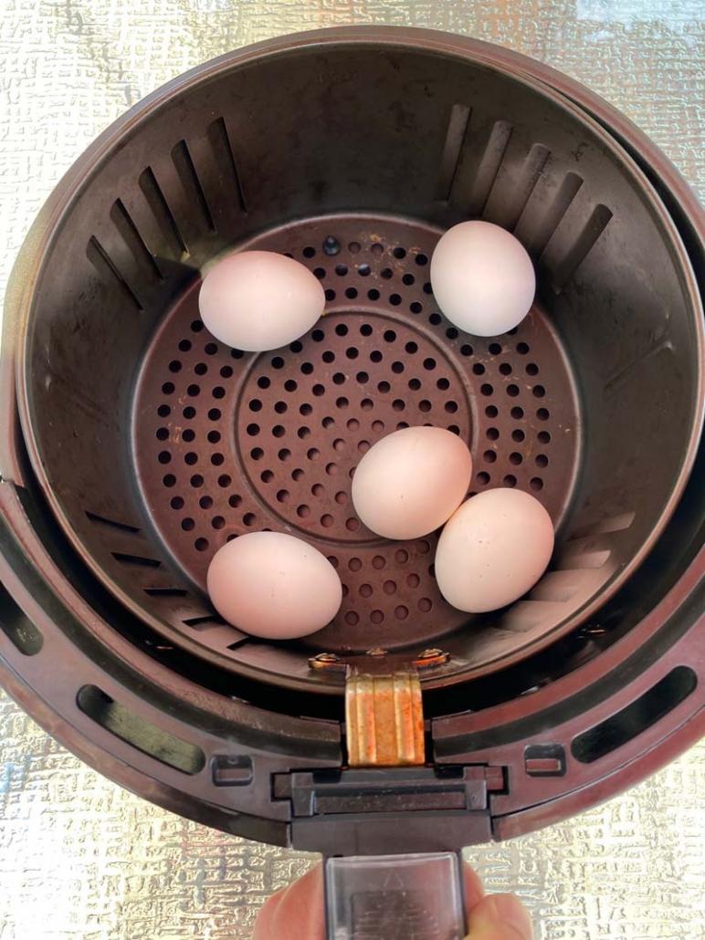 hard boiled eggs in air fryer