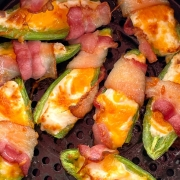 Air Fryer Bacon Wrapped Jalapeno Poppers Keto Recipe