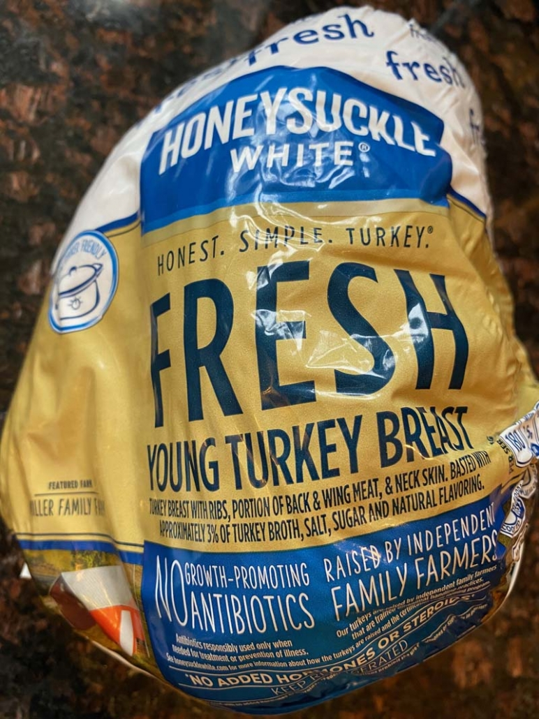 A bag of Honeysuckle White Turkey Breast