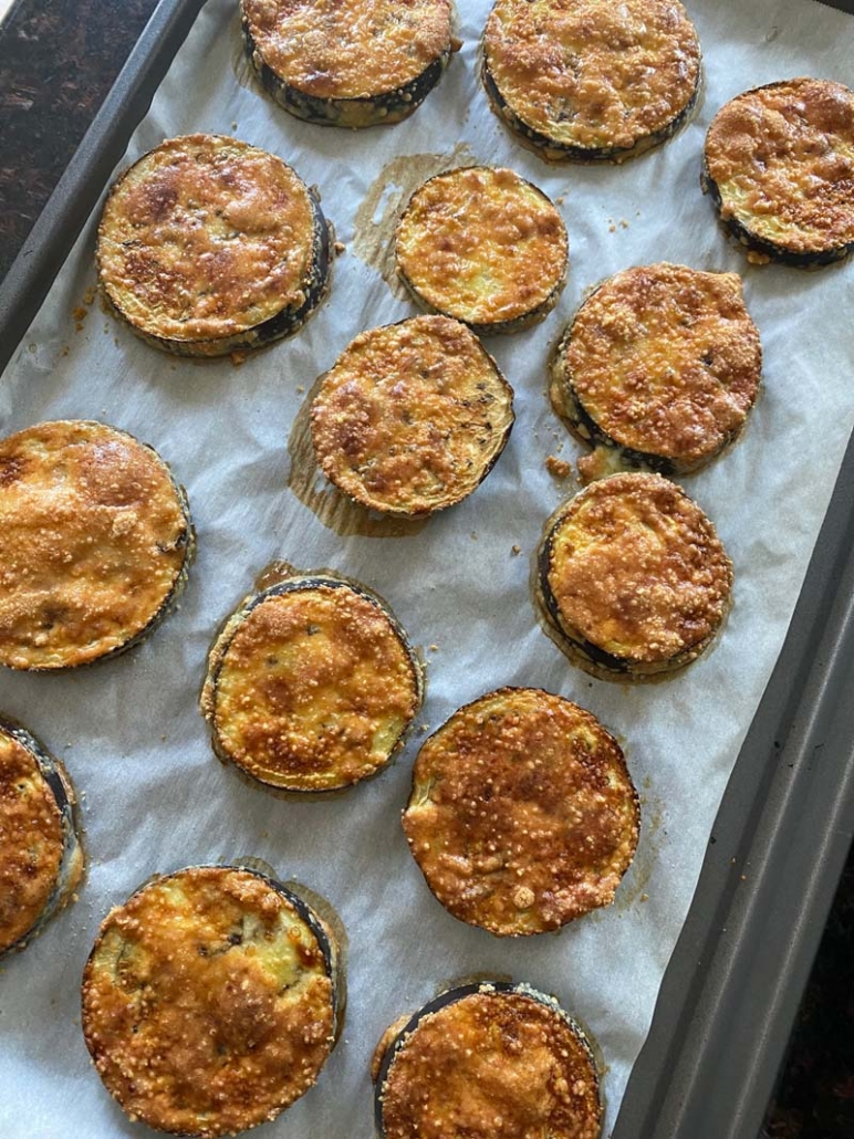 Crispy gluten-free baked eggplant