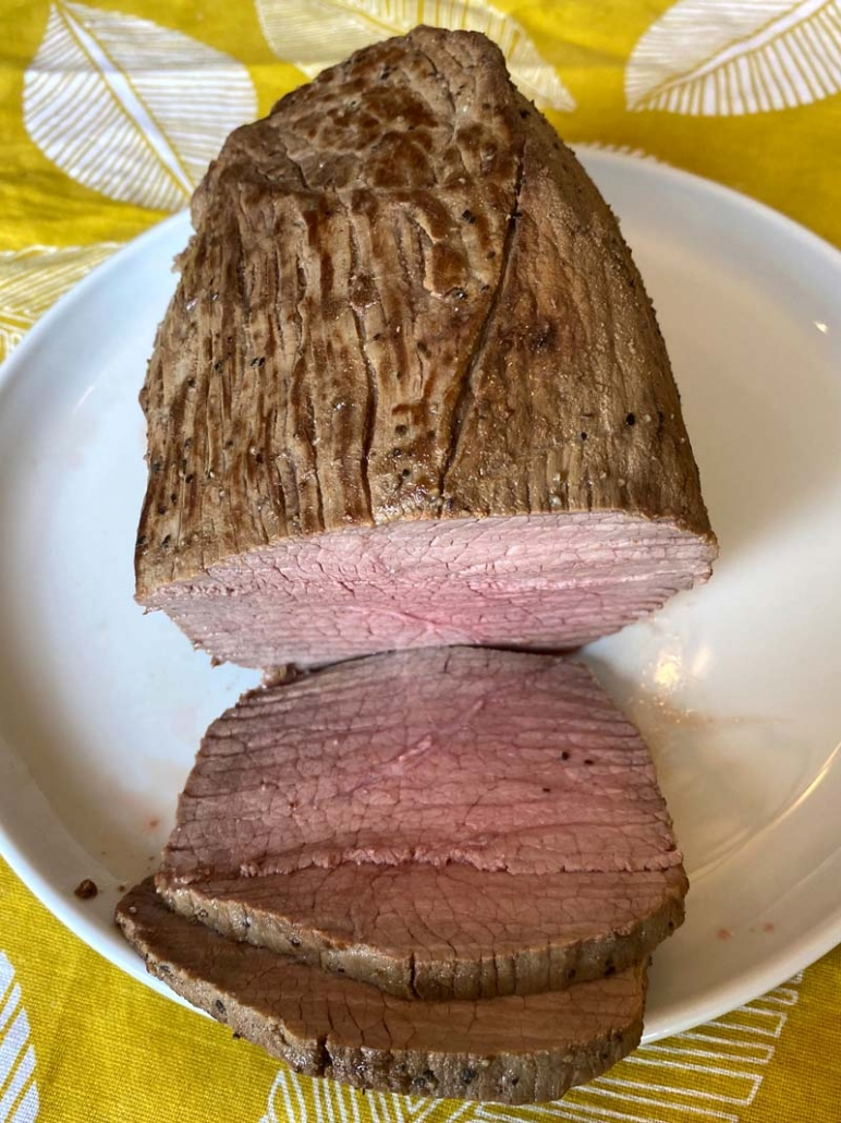 Sliced Eye of Round Beef Roast