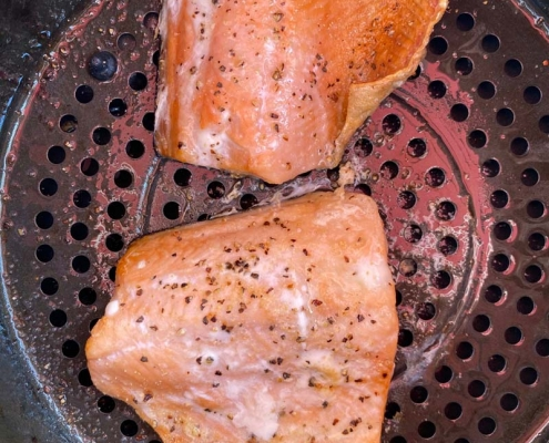 Air Fryer Frozen Salmon Recipe