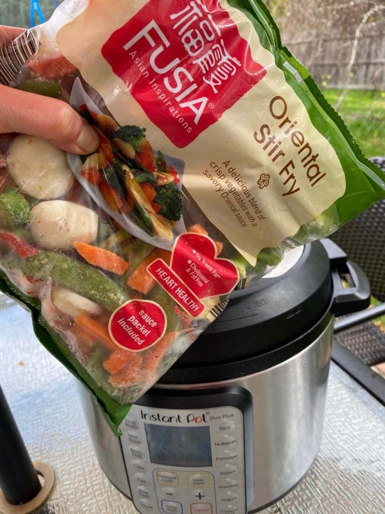 frozen oriental stir fry veggies and Instant Pot