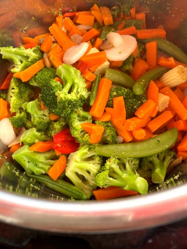 Cooking frozen veggies in the instant pot