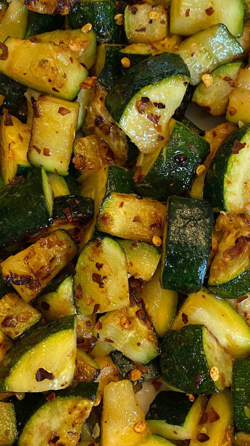 Sauteed Zucchini Recipe - Healthy Keto Pan Fried Zucchini
