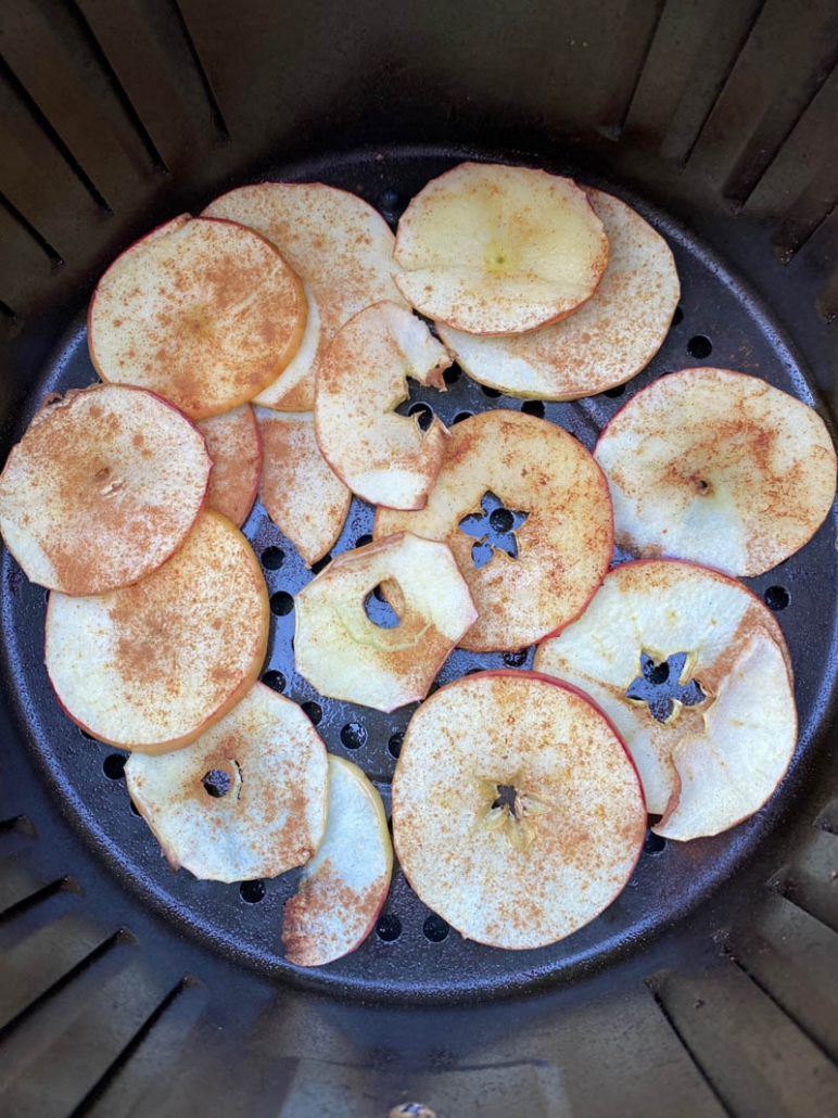 baking apple chips in the air fryer