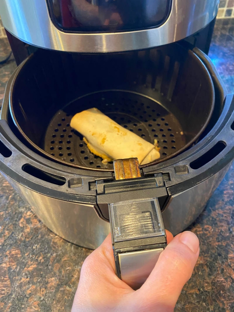 cooking a frozen burrito in the air fryer