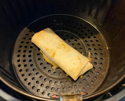 Air Fryer Frozen Burrito