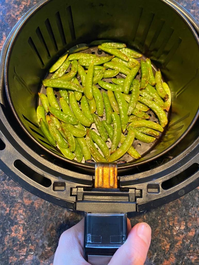 cooking snap peas in air fryer basket