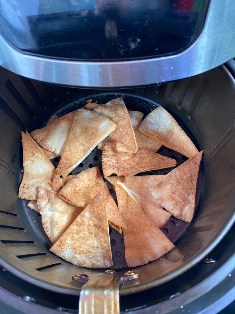 cooking air fryer pita bread chips