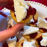 Cranberry Brie Ritz Cracker Bites Appetizer
