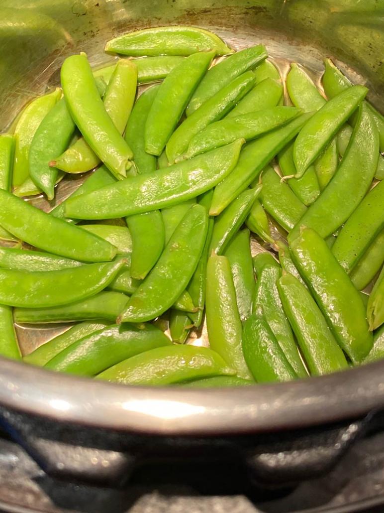 Instant Pot Steamed Sugar Snap Peas