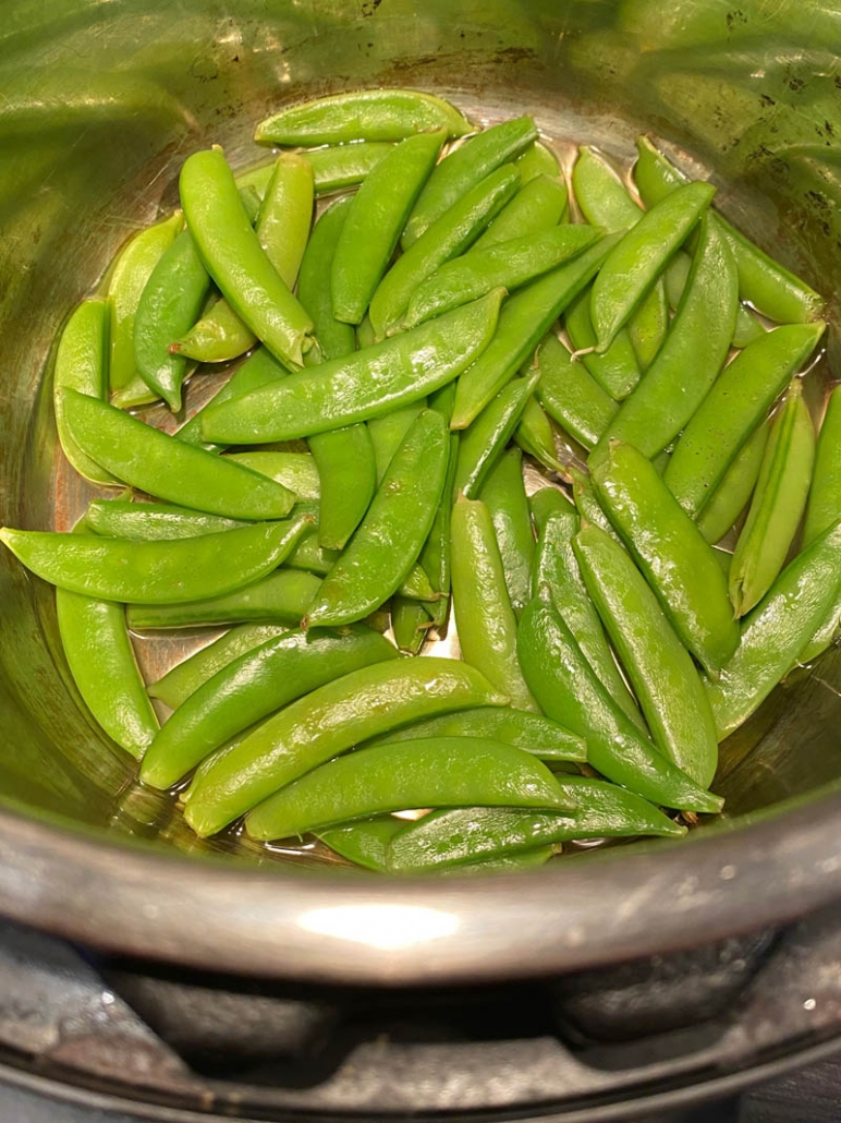 steaming sugar snap peas in instant pot
