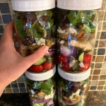 Greek Chicken Salad In Mason Jars (Meal Prep)