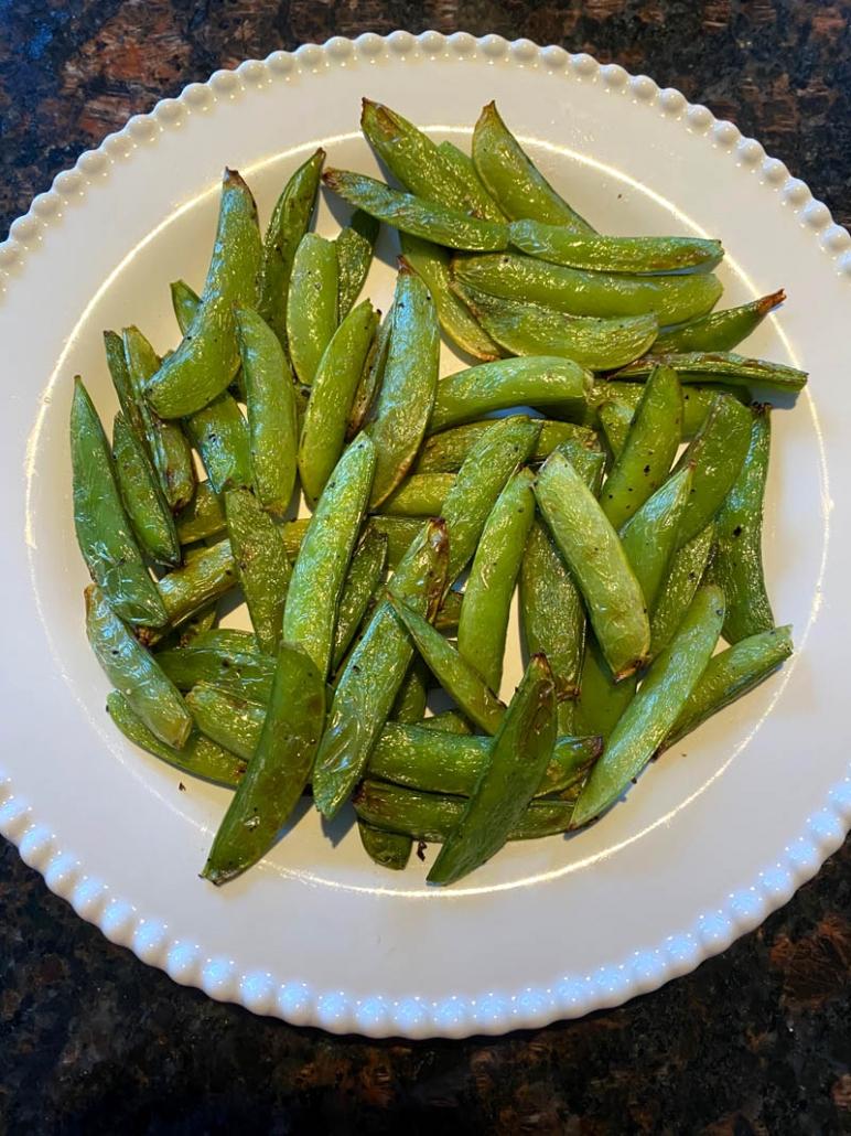 air-fried sugar snap peas
