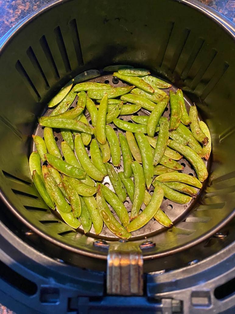 roasted sugar snap peas in air fryer