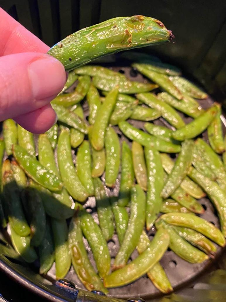 roasted sugar snap peas