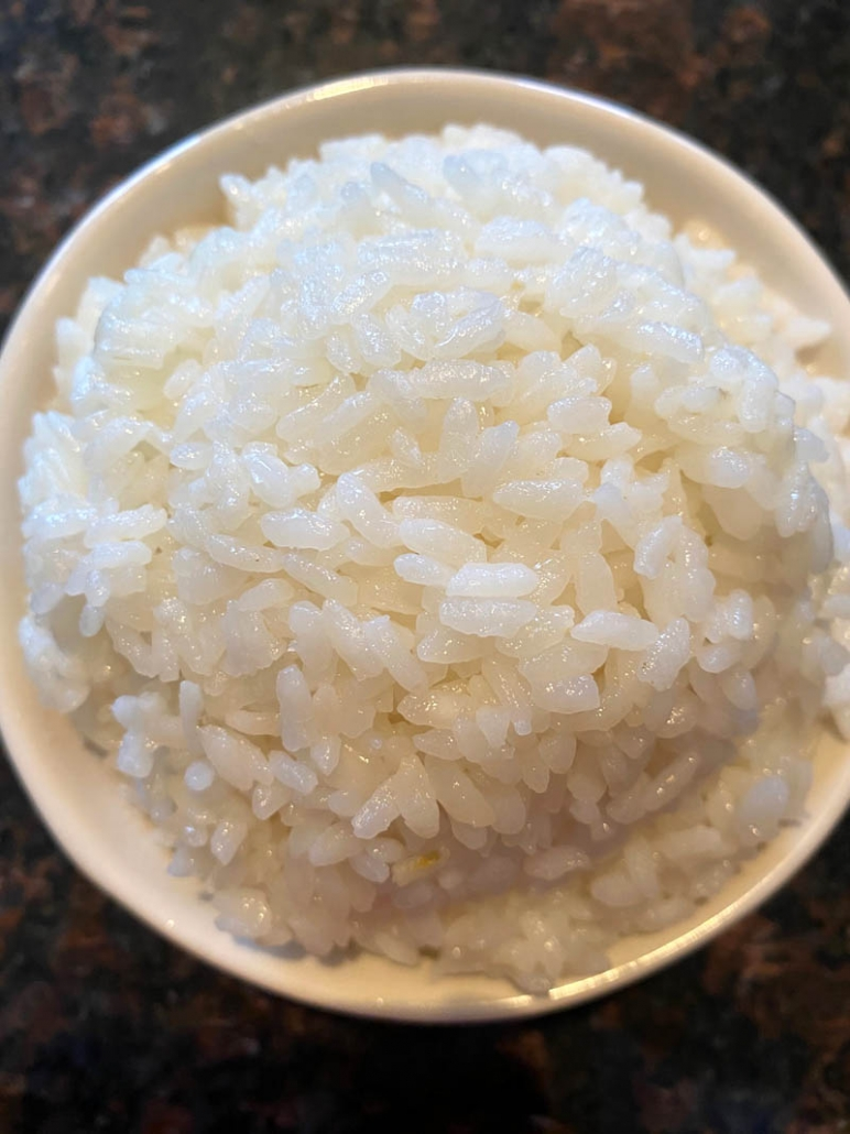 a bowl of sushi rice