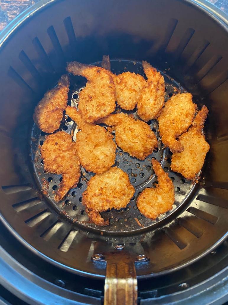 easy air fryer coconut shrimp