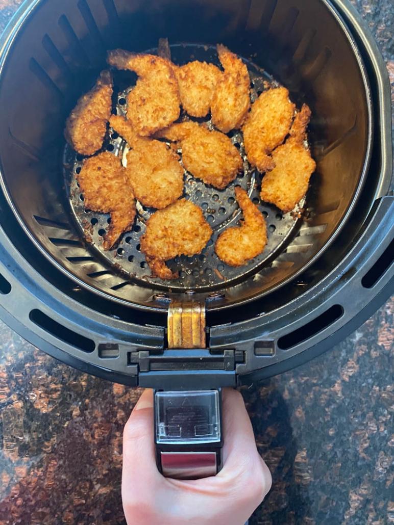 air fried frozen coconut shrimp