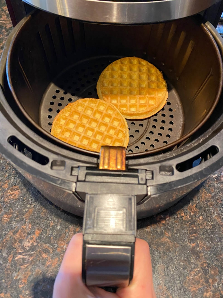 cooking frozen waffles in the air fryer