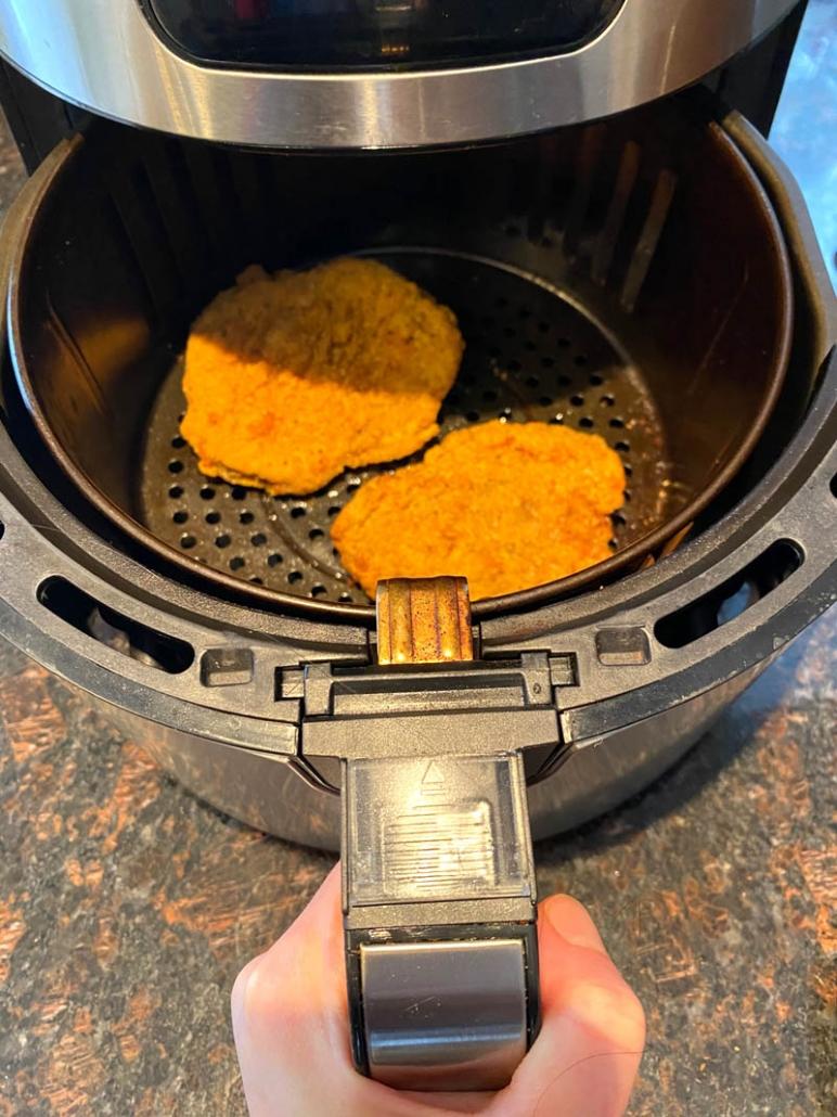 frozen chicken fried steak in air fryer