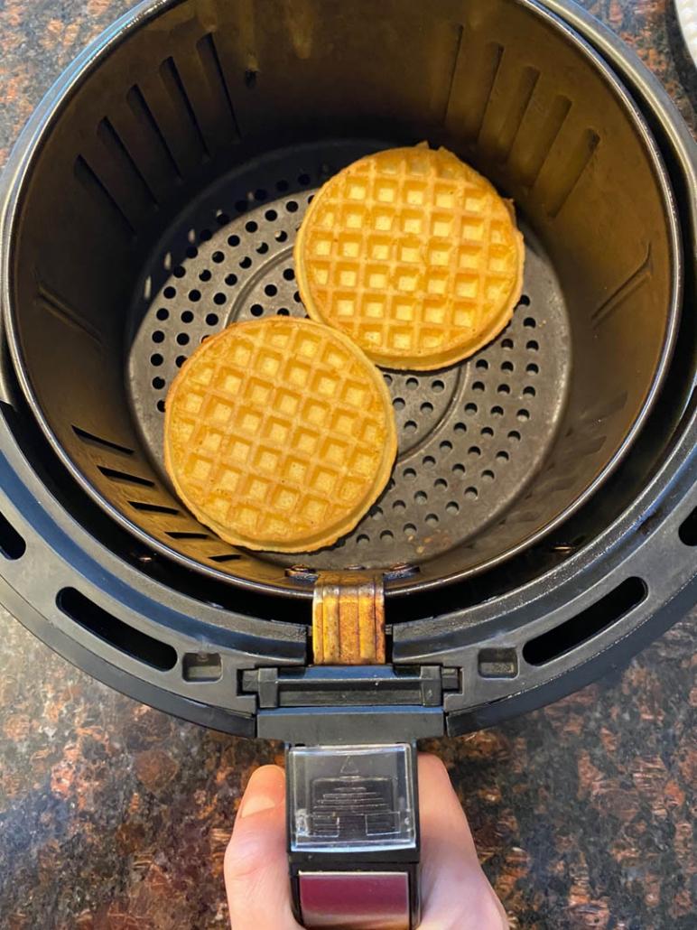 Air Fryer Frozen Eggo Waffles